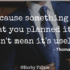 Just because something doesn't do what you planned it to do doesn't mean it's useless. - Thomas A. Edison